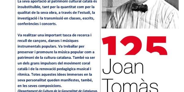 """Conferència """"ANY JOAN TOMÀS i PARÉS"""""""