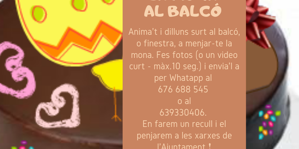 MENJA'T LA MONA AL BALCÓ