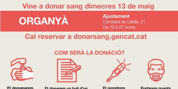 Organyà acull una campanya especial de donació de sang