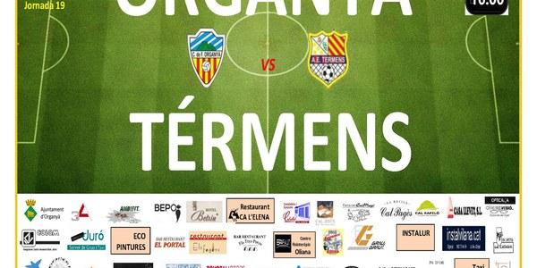 (AJORNAT) Partit de Futbol: ORGANYÀ - TÉRMENS (AJORNAT)
