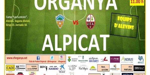 Partit de futbol (alevins): ORGANYÀ - ALPICAT