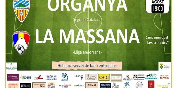 Partit de futbol (amistós): ORGANYÀ - LA MASSANA