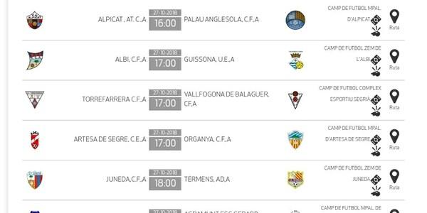 Partit de futbol: ARTESA DE SEGRE - ORGANYÀ