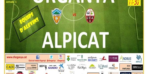 Partit de futbol d'alevins: ORGANYÀ - ALPICAT
