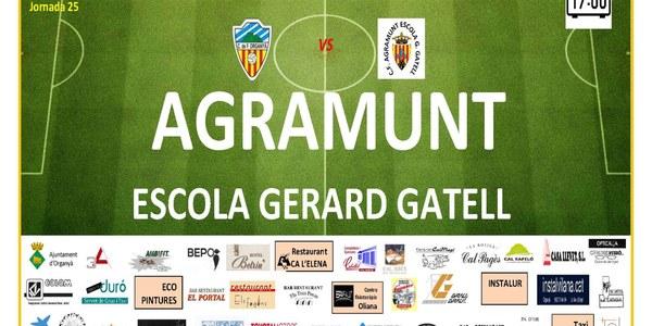 Partit de Futbol: ORGANYÀ -AGRAMUNT. Escola Gerard Gatell