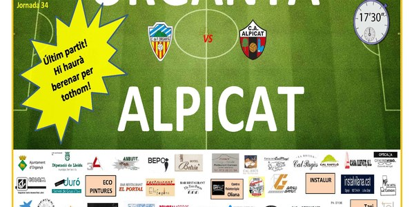 Partit de futbol: ORGANYÀ - ALPICAT