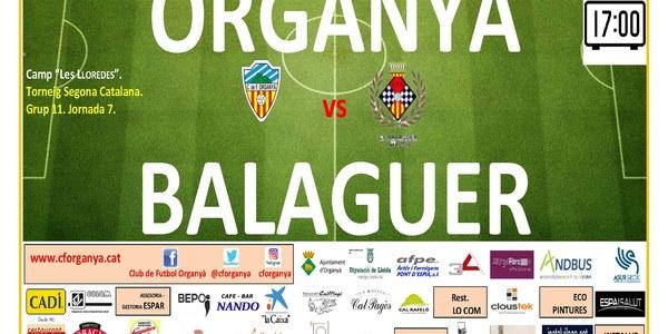 Partit de futbol: ORGANYÀ - BALAGUER