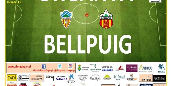 Partit de Futbol: ORGANYÀ - BELLPUIG