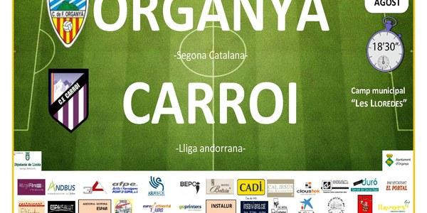 Partit de futbol: ORGANYÀ - CARROI