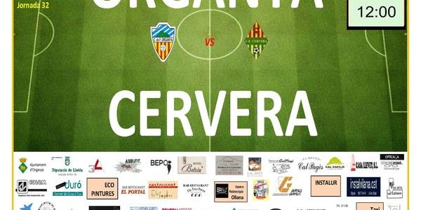 Partit de Futbol: ORGANYÀ - CERVERA