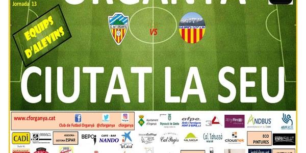 Partit de futbol ORGANYÀ-CIUTAT DE LA SEU