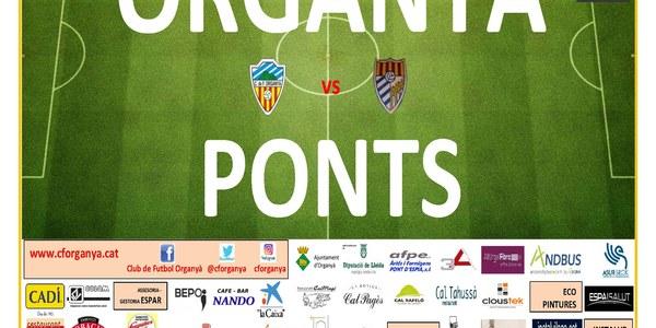 Partit de futbol ORGANYÀ-PONTS