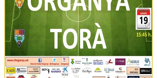 Partit de Futbol: ORGANYÀ - TORÀ