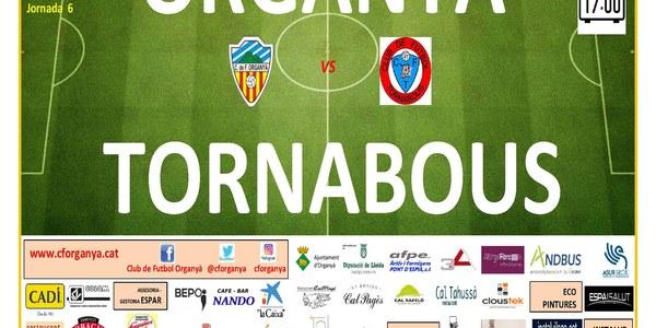 Partit de futbol: ORGANYÀ - TORNABOUS