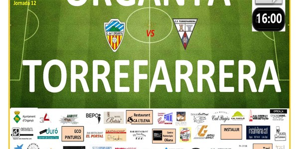 Partit de futbol: ORGANYÀ - TORREFARRERA