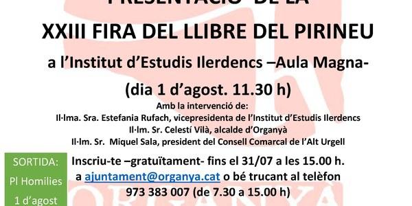Presentació de la 23a FIRA DEL LLIBRE DEL PIRINEU