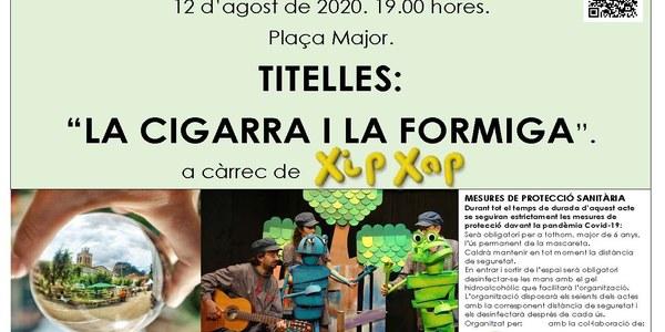"""Titelles """"La Cigarra i la Formiga""""."""