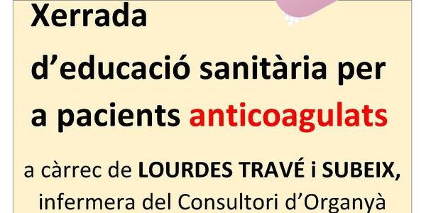 Xerrada d'educació sanitària per a pacients anticoagulats