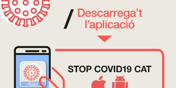 ‼ Descarrega't l'aplicació STOP COVID19 CAT