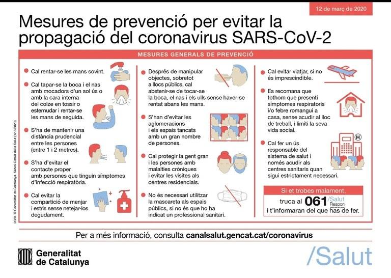 Mesures de prevenció (generals)