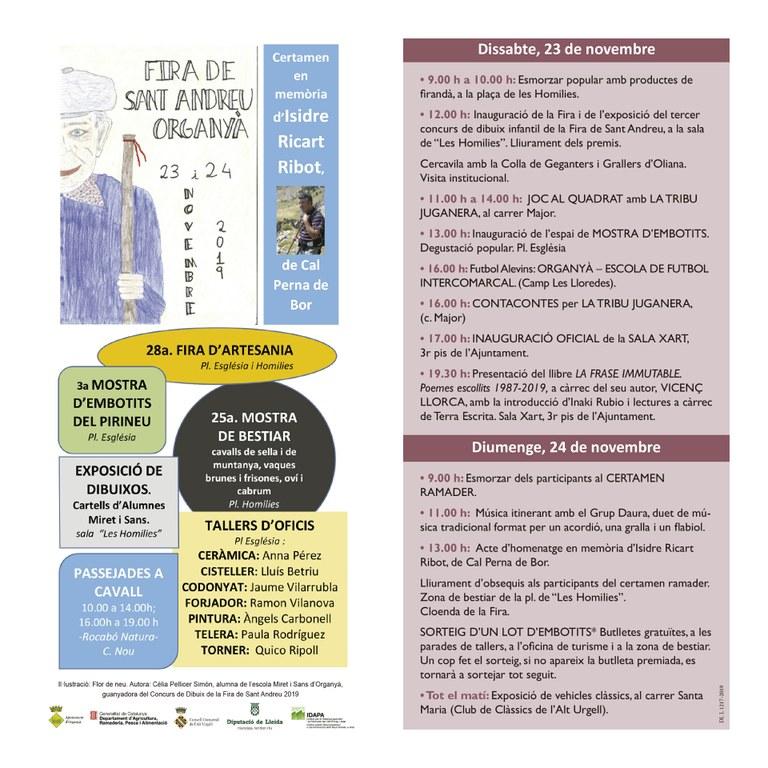Programa oficial de la Fira  (s'han anul•lat els actes d'inauguració i cloenda)