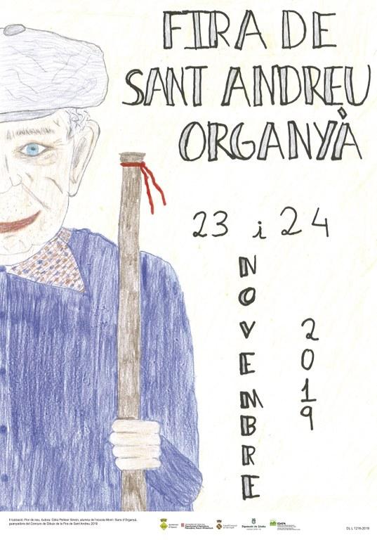 Cartell oficial de la Fira. Títol: Flor de Neu. Autora: Cèlia Pellicer Simón