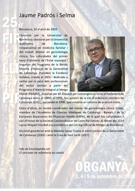 Bio de JAUME PADRÓS SELMA, Homileta de 2021